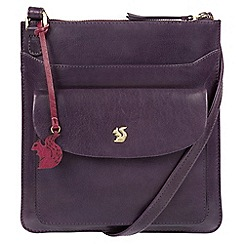 Conkca London - Blackberry 'Lauryn' handcrafted leather cross-body bag