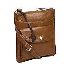 Conkca London - Dark tan 'Lauryn' handmade leather cross-body bag