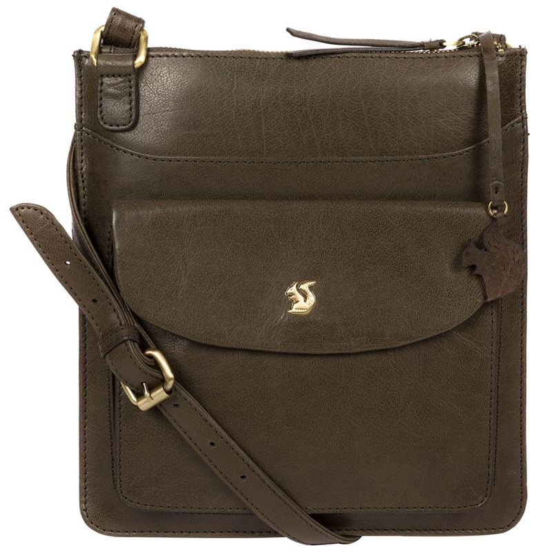 Conkca London - Olive Lauryn Handcrafted Leather Cross-Body