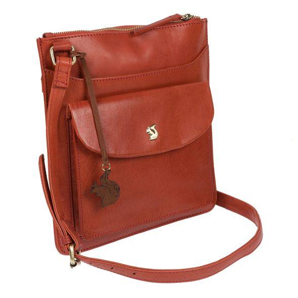 orange handcrafted cross 'Lauryn' Burnt leather Conkca bag body London 7xIw4nnEg