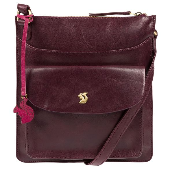 body handcrafted London cross leather Conkca Plum 'Lauryn' bag Hw4aqxApY