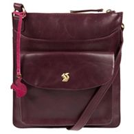 79f5d1a82d3e Conkca London - Plum  Lauryn  handcrafted leather cross-body bag