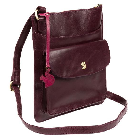 leather 'Lauryn' London bag handcrafted body cross Plum Conkca IE6wgw