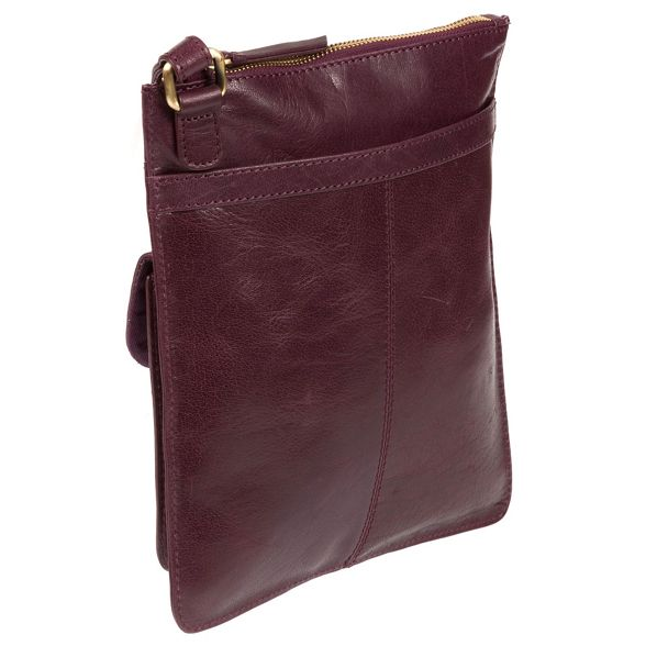 'Lauryn' Conkca leather bag body cross Plum London handcrafted 7wBpZq