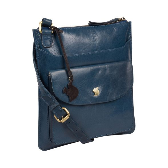 London Conkca body cross leather 'Lauryn' bag Snorkel blue handcrafted dCrCZx