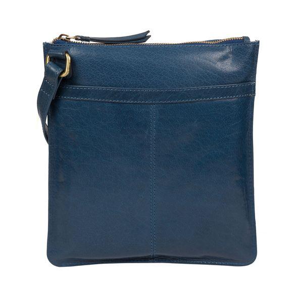 London Conkca body cross leather 'Lauryn' bag Snorkel blue handcrafted dCrCZx