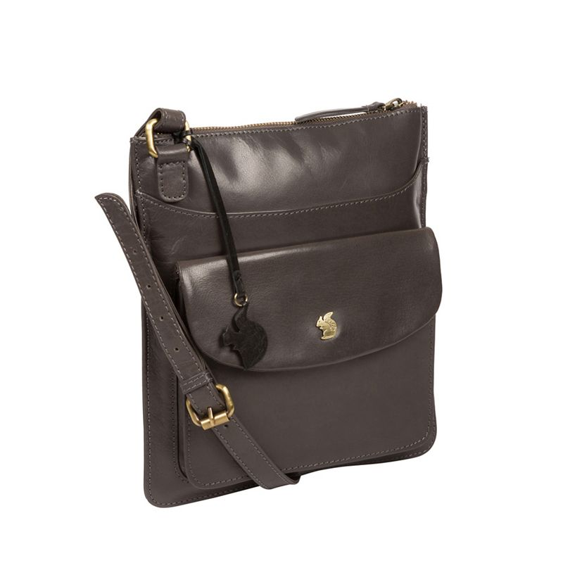 Conkca London - Slate Lauryn Leather Cross Body Bag