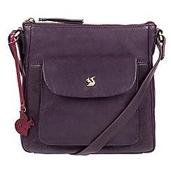 Conkca London - Blackberry 'Shona' handcrafted leather cross-body bag