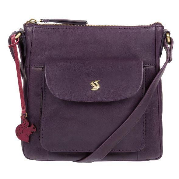 'Shona' handcrafted cross Conkca Blackberry leather London bag body wBgUZ