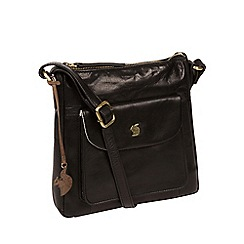 Conkca London Black Shona Handcrafted Leather Bag