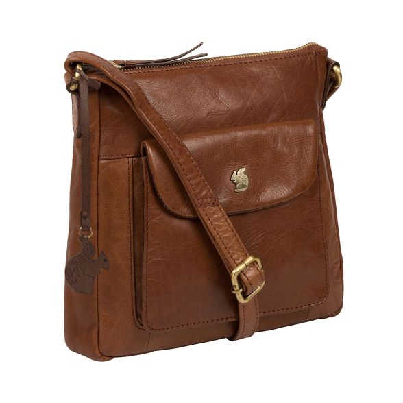 leather Conkca London 'Shona' handcrafted brown Conker bag CxTq8wa