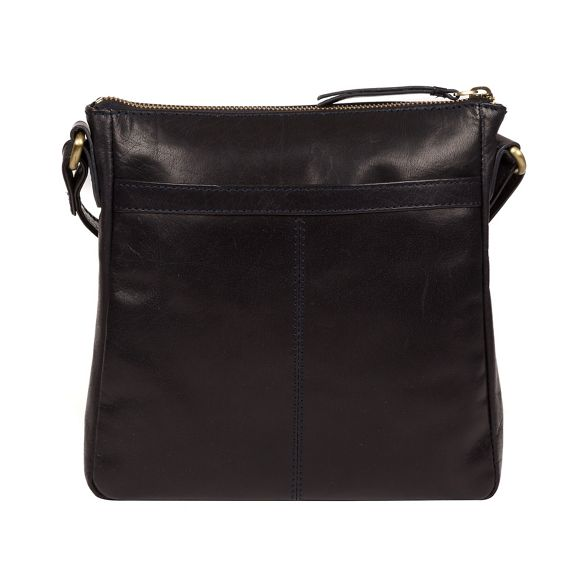 handcrafted cross bag leather 'Shona' Navy body Conkca London q14Pzxtt