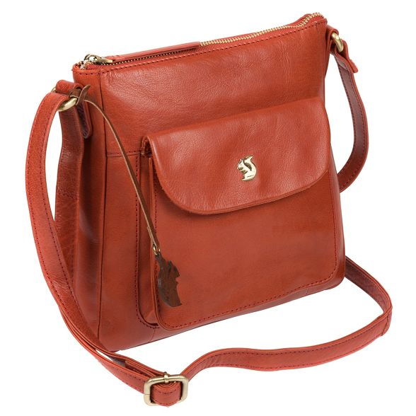 cross handcrafted 'Shona' Burnt orange bag body Conkca London leather wfIqWYC