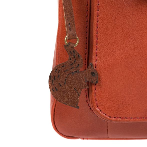 London orange 'Shona' cross body handcrafted Conkca bag Burnt leather xzndU