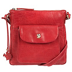 Conkca London - Scarlet 'Shona' handcrafted leather cross-body bag