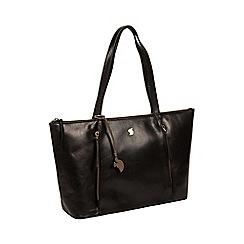 Conkca London - Black 'Clover' handcrafted leather shoulder bag