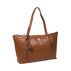 Conkca London Conker Brown Clover Handcrafted Leather Shoulder Bag