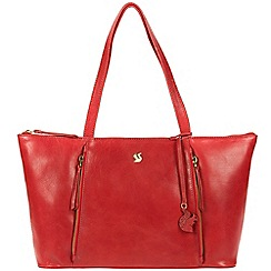 Conkca London - Scarlet 'Clover' handcrafted leather bag