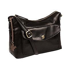 Conkca London - Black 'Alana' handmade leather hobo bag