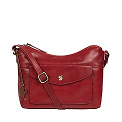 ed7400ee02e7 Conkca London - Chilli pepper  Alana  handcrafted leather shoulder bag