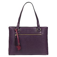 Conkca London - Blackberry 'Alice' handmade leather handbag