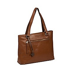 Conkca London - Conker brown 'Alice' handcrafted leather bag