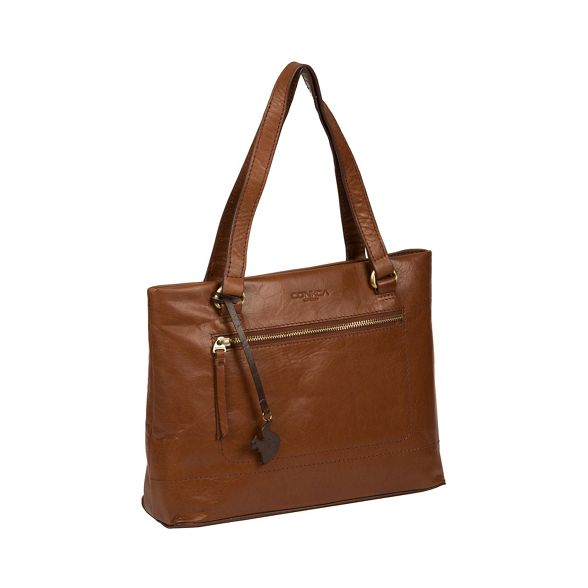 'Alice' bag brown Conker London leather handcrafted Conkca RqHatWx