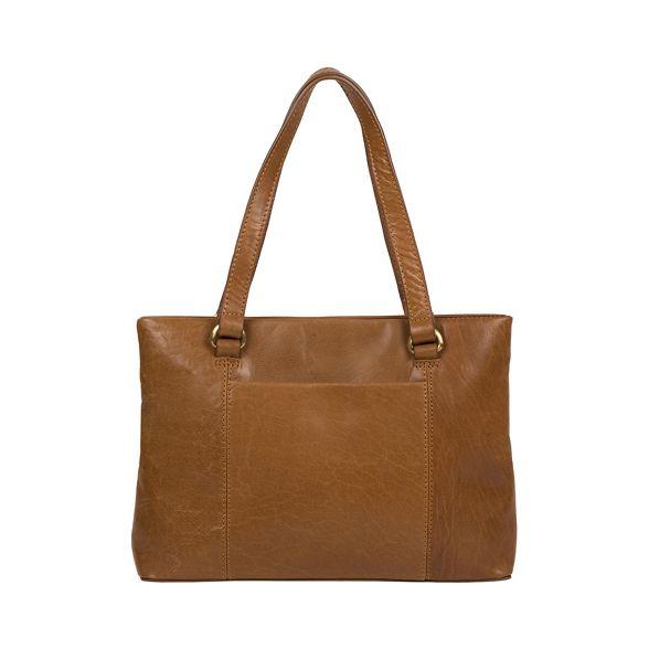 Dark handmade tan Conkca 'Alice' handbag leather London Ovwqx4S