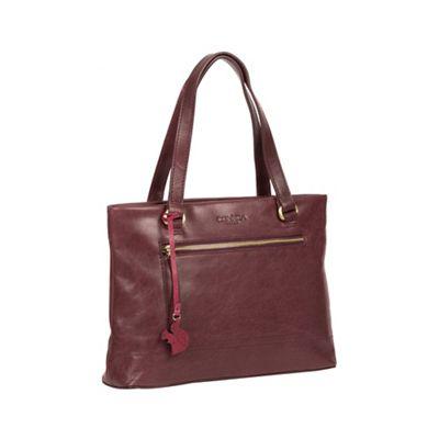 Conkca London   Plum 'alice' Handmade Leather Handbag by Conkca London