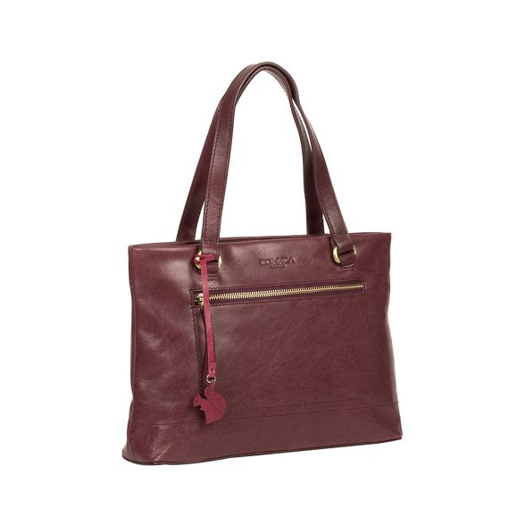 handbag handmade Conkca 'Alice' Plum London leather wqqg8z47
