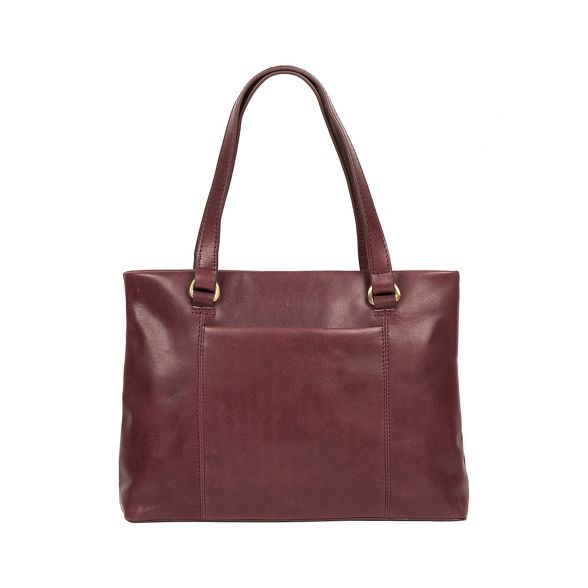 London handmade handbag 'Alice' leather Conkca Plum zqwdt00