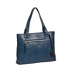 Conkca London Snorkel Blue Alice Handmade Leather Handbag