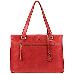 Conkca London - Scarlet 'Alice' handmade leather handbag