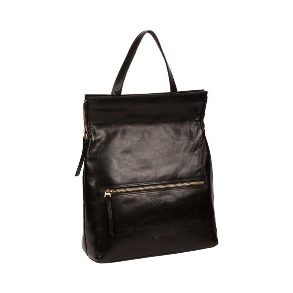 Conkca backpack London leather 'Anoushka' handmade Black rxHq6XBr