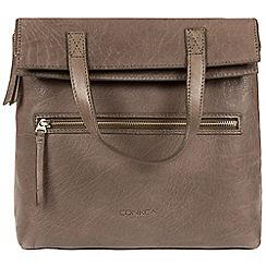 Conkca London - Dark Grey 'Anoushka' handmade leather backpack