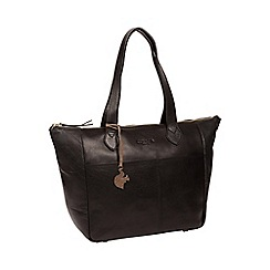 Conkca London - Black 'Harp' handcrafted leather hand bag