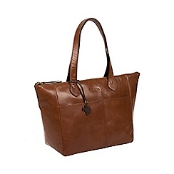 Conkca London - Conker brown 'Harp' handcrafted leather hand bag