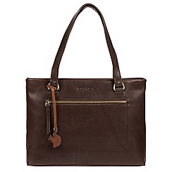 Conkca London - Dark brown 'Alice' handmade leather handbag