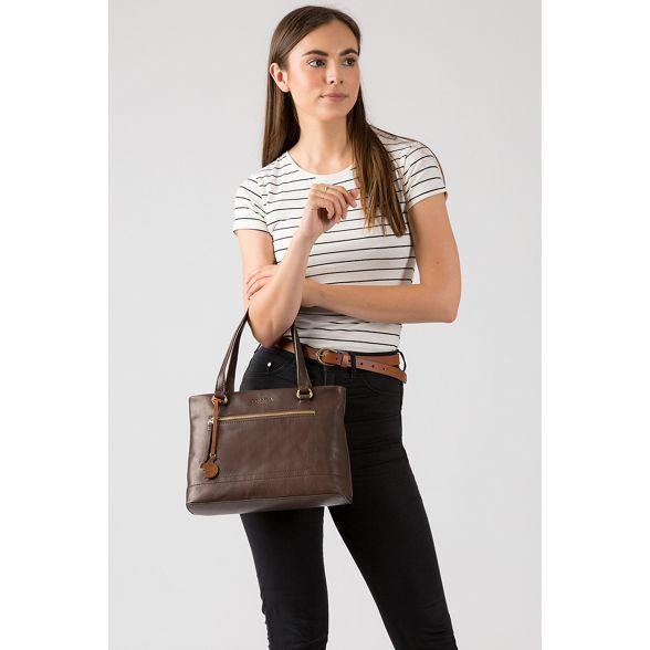 'Alice' Dark handbag leather handmade London brown Conkca HCtawa
