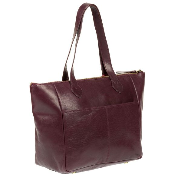 'Harp' bag leather handmade Plum tote Conkca London TnWx0gTE