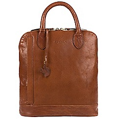 Conkca London - Conker brown 'Camille' handmade leather backpack