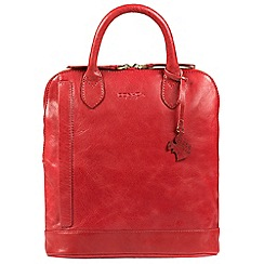 Conkca London - Scarlet 'Camille' handcrafted leather backpack