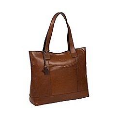 Conkca London - Conker brown 'Patience' handmade leather bag