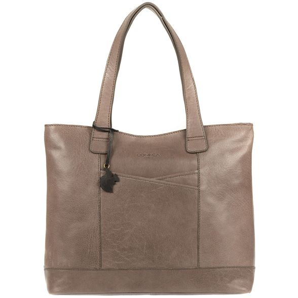 London grey bag handmade leather Conkca Taupe 'Patience' tote fqwEUd