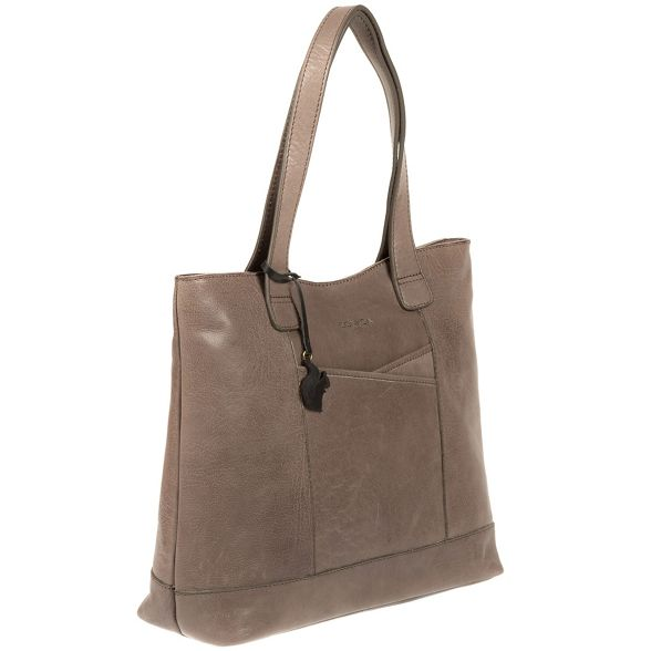 Conkca grey leather London 'Patience' handmade tote bag Taupe qPwgqFxrv