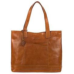 Conkca London - Dark tan 'Patience' handmade leather bag