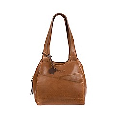 Conkca London - Dark Tan  Juliet  Handcrafted Leather Handbag bb6452d08d