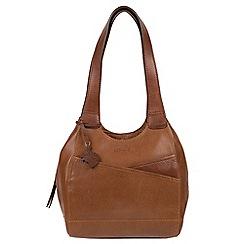 Conkca London - Dark tan and conker brown 'Juliet' handmade leather handbag