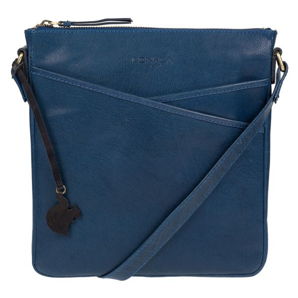 bag leather handmade 'Avril' London Snorkel blue Conkca XP8wq