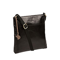 Conkca London - Black 'Dink' handcrafted leather cross-body bag